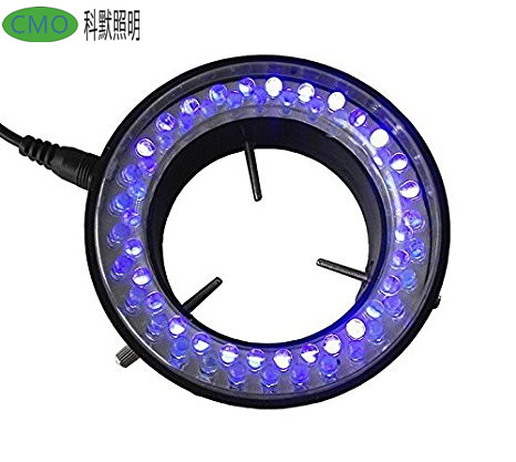 56 LED Purple UV Light Source for Microscope Ring Light Lamp Illuminator with Adapter 220V or 110V purple color 60 led illuminated ring lamps for stereo biological zoom stereo microscope with 220v or 110v adapter