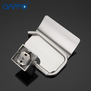 Image 3 - GAPPO High quality Wall mount Stainless Steel Cover Toilet Paper Holder Zinc Alloy Mounting Seat Bathroom accessoriesG1703