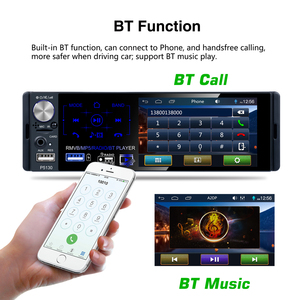 "Image 4 - AMPrime Autoradio วิทยุติดรถยนต์ 1 DIN 4.1 ""Touch Screen Auto Audio ไมโครโฟน RDS บลูทูธสเตอริโอด้านหลังดูกล้อง USB AUX"