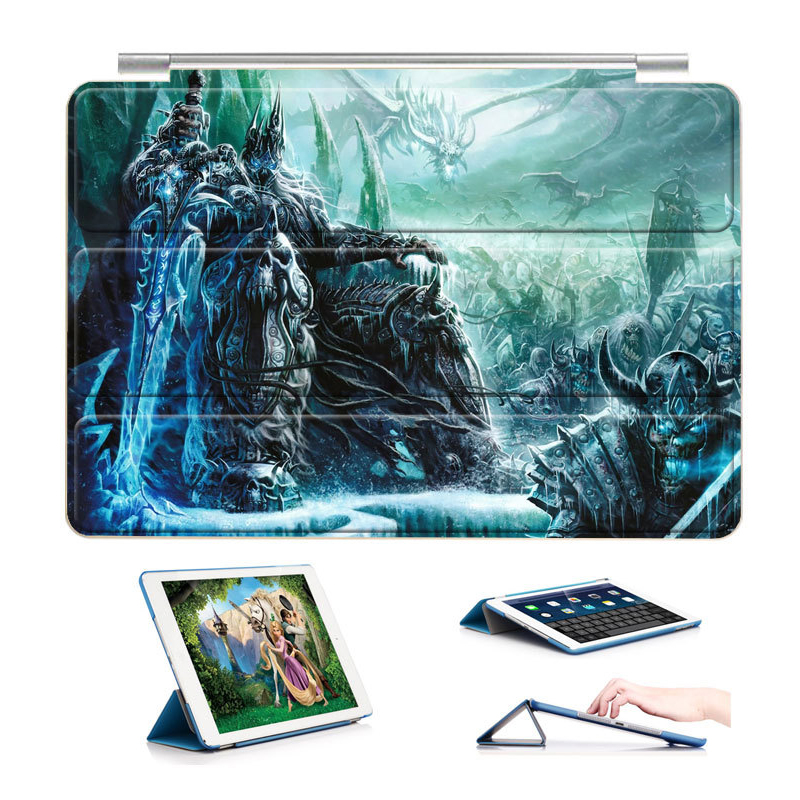 Case for Apple iPad Pro 10.5 inch, Lightweight Ultra Slim PU Leather Folding Folio Smart Cover Sleeve for WoW Gaming Pattern