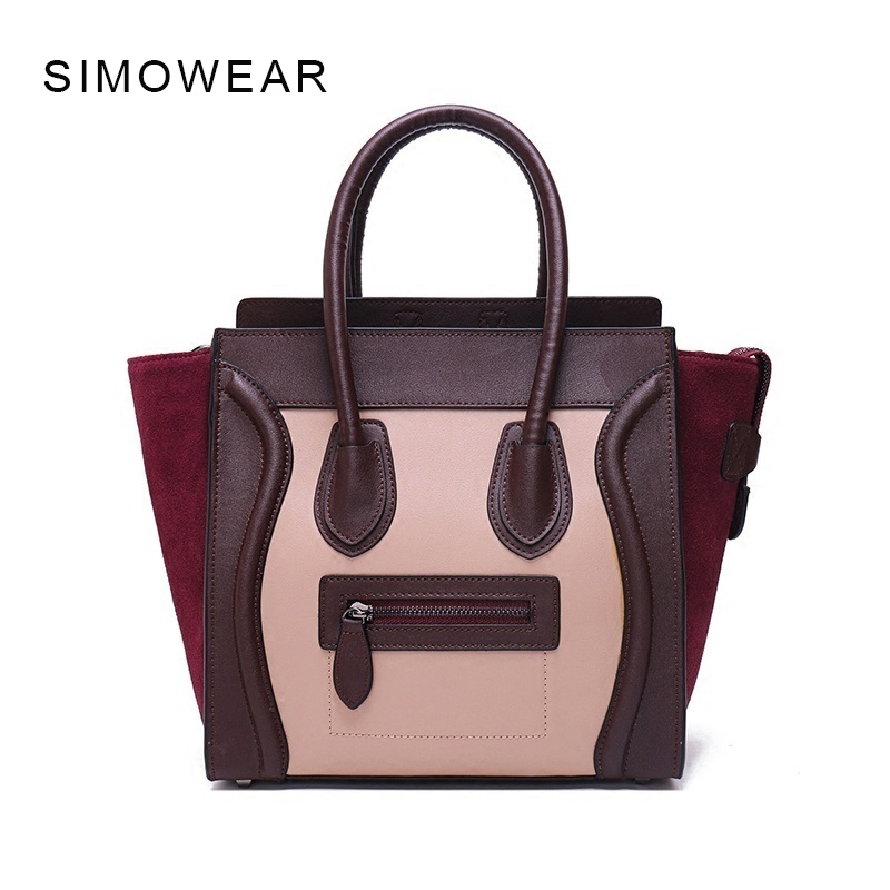 2017 Hot Sale Luxury Famous Women Shoulder Bag Cow Leather Smiley Tote Bag Messenger Bags Feminia Bolsa Crossbody Smiling Face hot sale luxury pu leather bag star