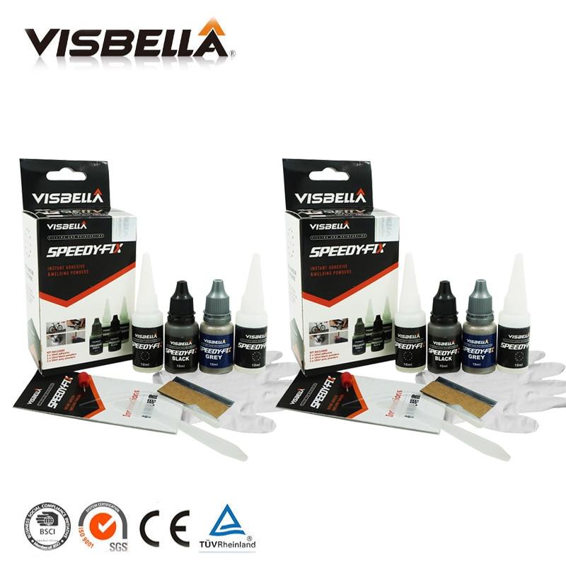 Visbella 2pcs 7 Second Quick Bonding speedy Fix Adhesive Powders for Metal Steel Plastic Wood Ceramic Repair Glue Reinforcing
