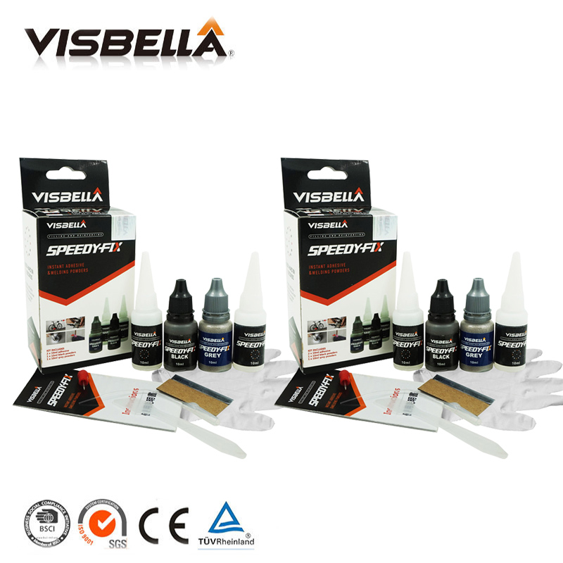 Visbella 2pcs 7 Second Speedy Fix Quick Bonding Adhesive Powders For Metal Steel Plastic Wood Ceramic Repair Glue Reinforcing