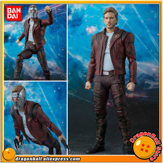 Anime Guardians of the Galaxy 2 Original BANDAI Tamashii Nations S.H. Figuarts / SHF Exclusive Action Figure - Star-Lord anime captain america civil war original bandai tamashii nations shf s h figuarts action figure ant man