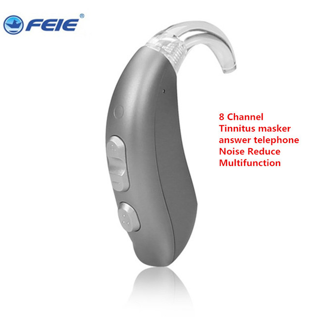 BTE Digital Programmable Hearing Aides with 8 Channels Built-in Tinnitus Masker Deaf invisible ear Amplifier MY-26 free shipping