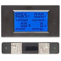 DC 6.5 100V 50A 4 IN1 woltomierz cyfrowy amperomierz LCD DC napięcie prądu licznik energii Tester z DC 100A/75mV bocznik w Mierniki napięcia od Narzędzia na