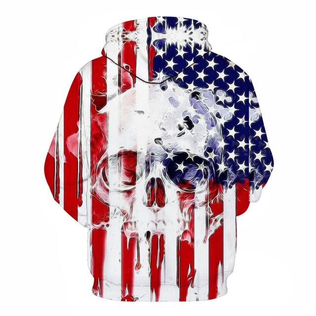 AMERICAN SKULL 3D HOODIE