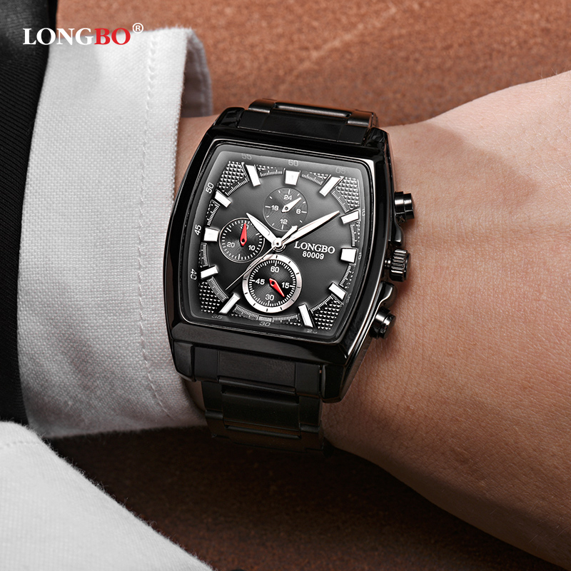 LONGBO Luxury Stainless Steel Men Quartz Watch Luminous Military Wristwatch Waterproof Hombre Male Watches Relogio Masculino стоимость