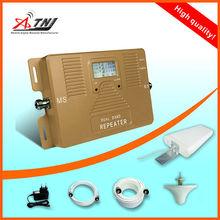 Mundo conveniente GSM 3g de refuerzo de la red, doble banda 900 y 2100 mhz amplificador de señal/repetidor con LCD