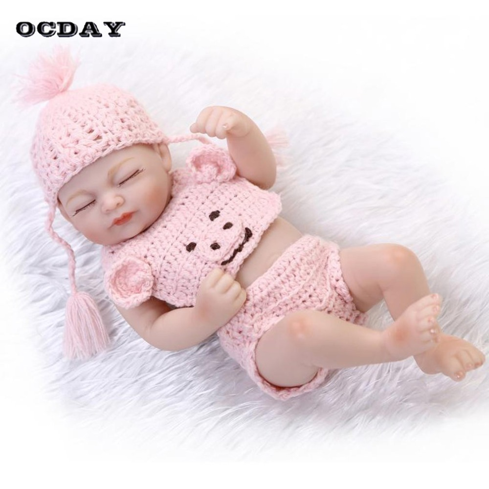 NPK Doll 26cm Simulation Sleeping Baby Reborn Doll Toy Full Silicone Lifelike Bebe Doll  ...