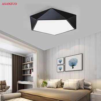 Ultrathin Modern LED ceiling lights simple home deco fixtures Bedroom dining living room iron black white pentagon ceiling lamp - DISCOUNT ITEM  48% OFF All Category