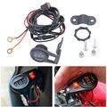 High Quality Motorcycle Volt Meter With Switch Button 12v Motorcycle Handlebar Voltmeter Motorbike LED Digital Voltage Meter