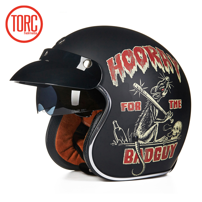 Torc 3 4 open face vintage scotter jet motorcycle helmet retro vespa helmets chopper bikes for