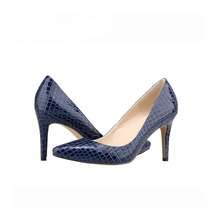 LOSLANDIFEN Faux Krokodil Schuhe Büro Damen Schuhe 8 CM High Heels Schuhe Punkt Toe Frauen Pumpt Sapatos Femininos Salto 952-1