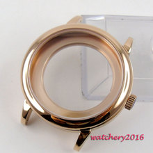 40mm rose golden automatic Watch Case fit ETA 2824 2836 miyota 8215 Movement 42mm pvd coated case black aluminum alloy bezel watch case fit eta 2824 2836 dg2813 3804 miota 8215 8205 821a movement c18