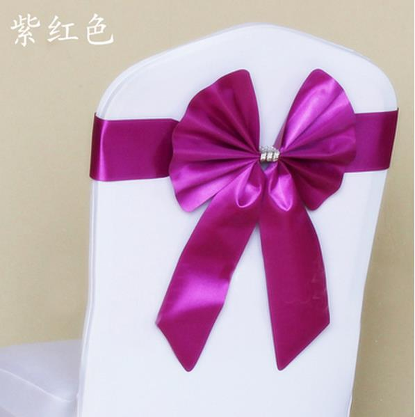 Powdery purple yellow Bow tie back stretch free chair cover wedding decorate the back of the chair-in Sashes from Home u0026 Garden on Aliexpress.com | Alibaba ... & Powdery purple yellow Bow tie back stretch free chair cover wedding ...