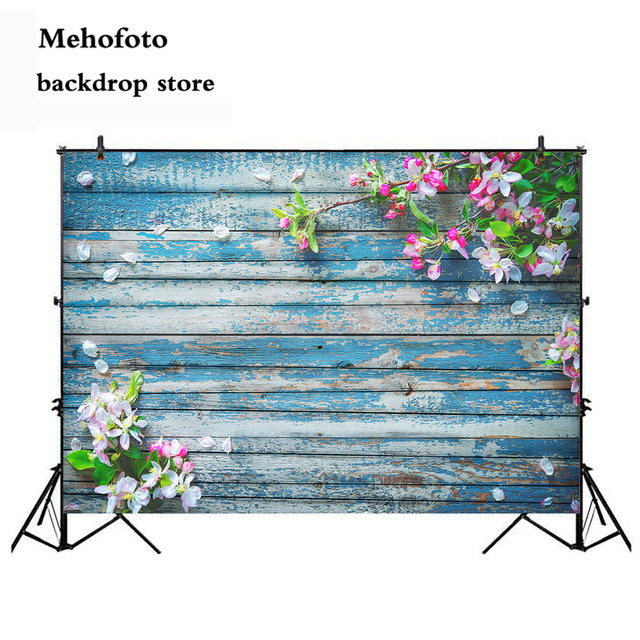 Wood Floor Photography Backdrop Spring Flower Newborn Baby Shower Photo Background Booth Studio Goods for Photophone Vinyl Cloth