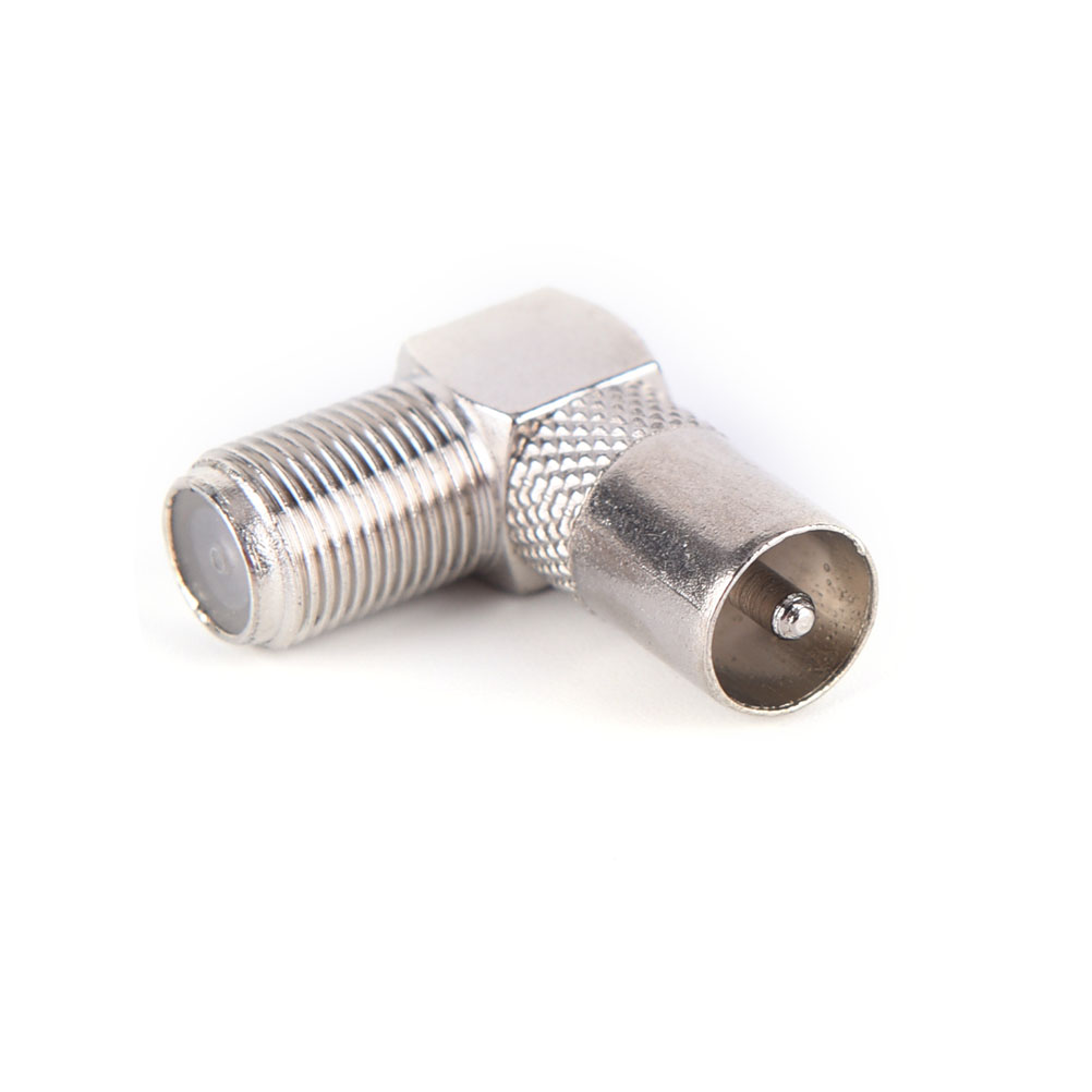 5 X Quick F Adapter Right Male to Female 90° Connector Push On Coaxial Angled
