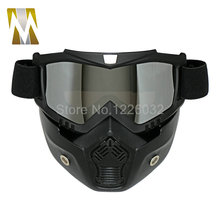 Motocross Goggles Glasses Face Dust Mask With Detachable Motorcycle Oculos Gafas And Mouth Filter For Open