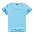 Child Unisex Plain Basic T Shirts Girls Boys Blue Blank 100% Cotton Tops Tees 2017 Summer Kids Clothing 2 3 4 6 8 10 12T KT1424