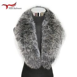 Winter new real natural color fox fur collar large size scarf women coat jacket shawl female fashion warm scarf best selling F10