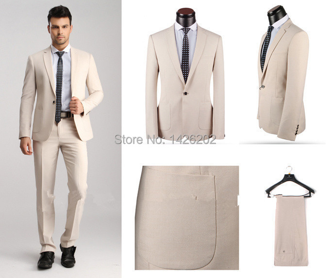 Factory Price young men Fashion Design one button Suits for men ...