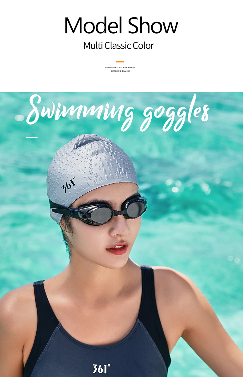Unisex Professional Myopia Silicone Swimming Pool Glasses Anti Fog Waterproof 20