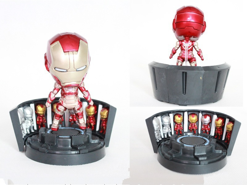 3 tyles geen licht iron man action figure marvel de avengers 4 model