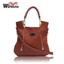New 2016 Women Leather Handbag Brand Tote Portable Shoulder bags Ladies Crossbody Bag Shopping Bag Vintage Embossing Tote Bolsas