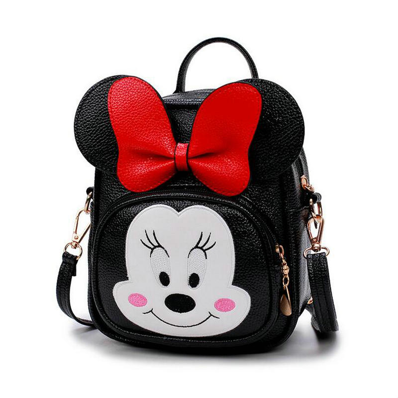 Hot Sale waterproof Cartoon Baby Girls Minnie Messenger Bag Cute bow tie Kids Baby Small Children PU Handbags Kids Shoulder Bags