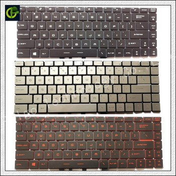 Englisch Beleuchtete tastatur für MSI GF63 MSI GS65 8RC 8RD 8RE Stealth 8RF DÜNNE GS65VR MS-16Q1 laptop UNS