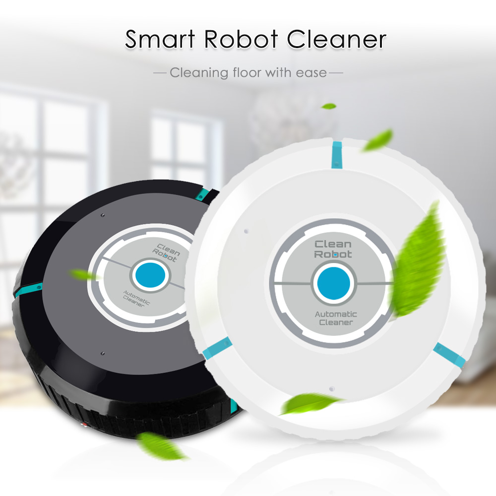 Robot Vacuum Cleaner Automatic Smart Floor Cleaning Auto Sweeper Dust Home Clean Appliance