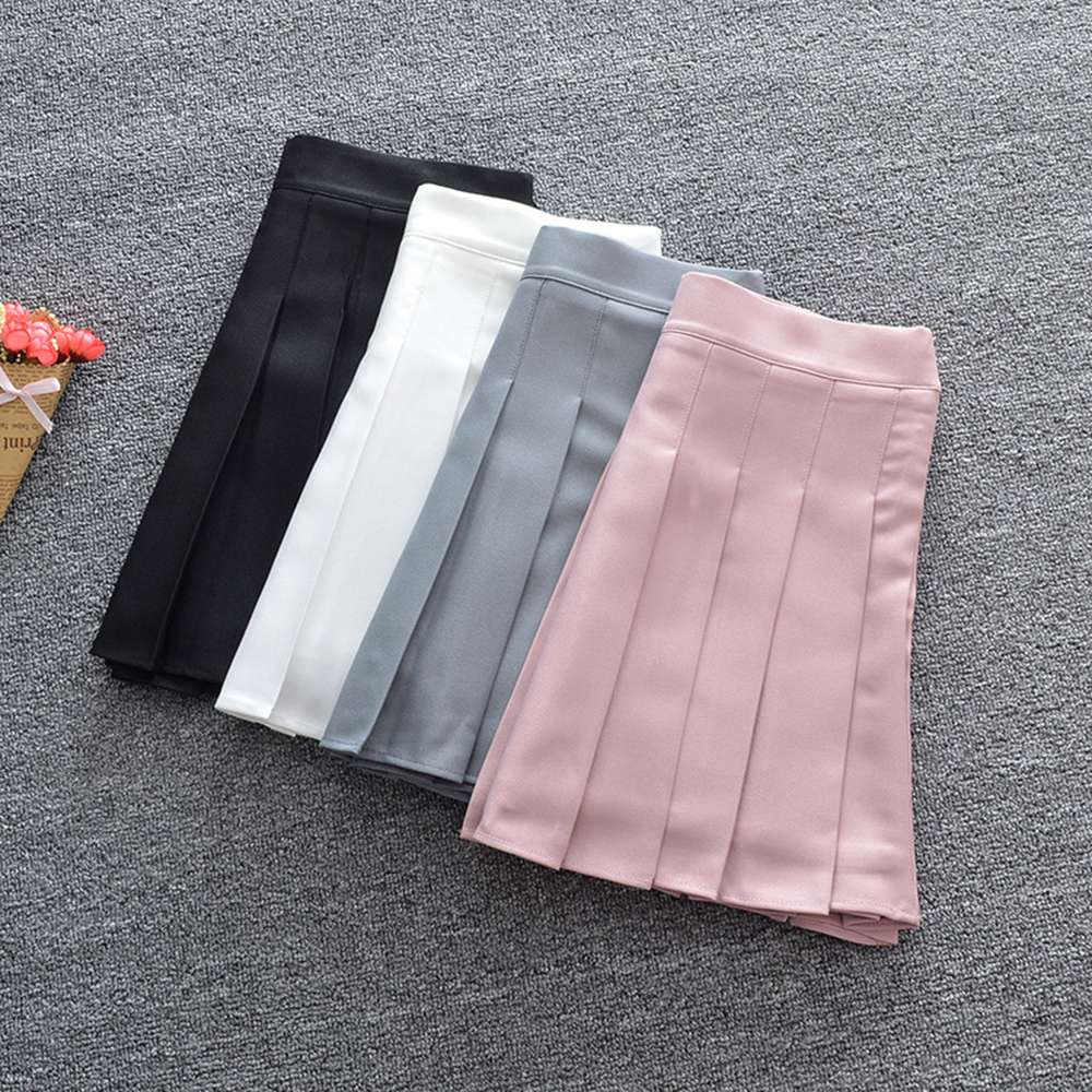 Pleated Skirt High Waist Lolita Harajuku Girls A-line Mini Sailor Japanese School Uniform Skirts