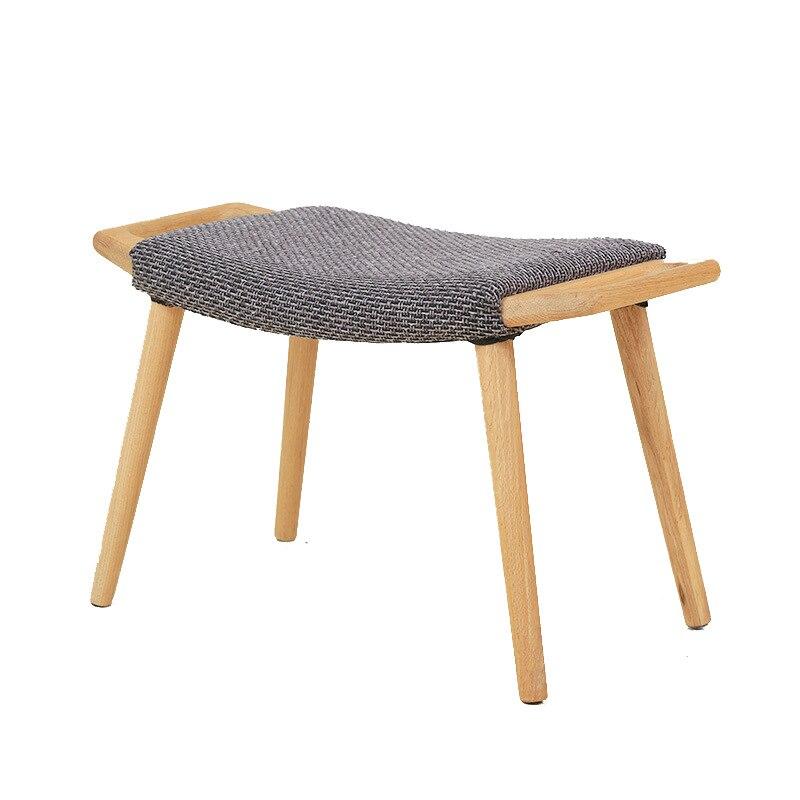 New Modern Househoold Oak Wooden Cloth Art Chair Kids Foot Stool Wood Small Bench Makeup Eat Sofa Furniture
