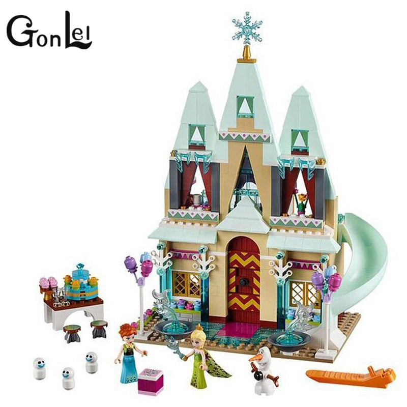 GonLeI 2016 New JG303 Building Blocks Arendelle Castle Princess Anna Elsa Buildable Compatible With Legoingly SY371 Kids toys jg303 building blocks arendelle castle princess anna elsa buildable snow queen figures sy371 with blocks kids toys gift page 8