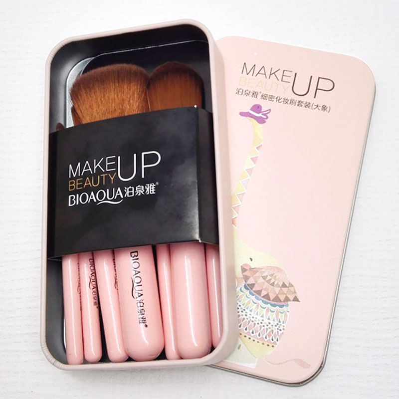 2017 New Hot BIOAQUA 7Pcs Makeup Brushes Set Eye Lip Face Foundation Make Up Brush Kit Soft Fiber Hair Tools Fastshipping WH998 in Eye Shadow Applicator from Beauty Health