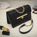 Free shipping, 2016 new women handbags, fashion Korean version shoulder bag, trend woman messenger bag, gold chain flap.