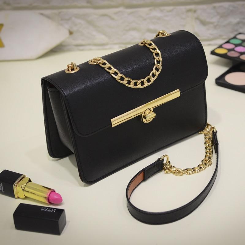 Free shipping, 2018 new women handbags, fashion Korean version shoulder bag, trend woman messenger bag, gold chain flap.
