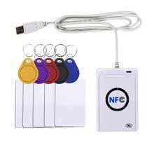 RFID قارئ ACR122U NFC USB البطاقة الذكية الكاتب SDK M ifare نسخة استنساخ البرمجيات ناسخة الناسخ للكتابة S50 13.56mhz UID بطاقات