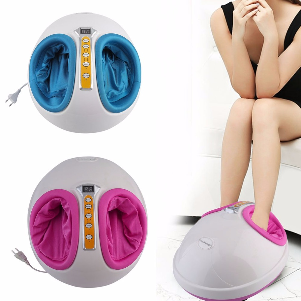 220V Electric Antistress Heating Therapy Shiatsu Kneading Foot Massager Vibrator Foot Massage Machine Foot Care Device new все цены