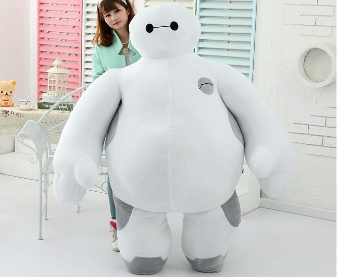 100cm The big hero 6 plush toys big size Baymax plush dolls Movies & TV Toys & Hobbies Child Baby Toys Gifts hot sale 12cm foreign chavo genuine peluche plush toys character mini humanoid dolls