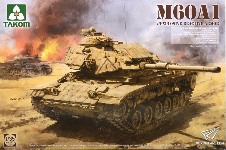 TAKOM 1/35 M60A1 With Explosive Reactive Armor #2113TAKOM 1/35 M60A1 With Explosive Reactive Armor #2113