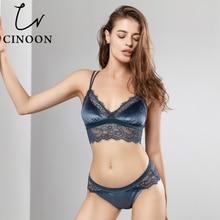 CINOON Новый Модный женский сексуальный Бархатный комплект с бюстгальтером нижнее белье пуш-ап бюстгальтер беспроводное нижнее белье ресницы кружевной бюстгальтер