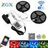 Wifi Controller 2835 RGB LED Strip Lamp Light Waterproof Flexible Tape Diode Ribbon DC 12V Adapter