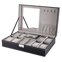 2 In One 8 Grids+3 Mixed Grids Watch Boxes PU Leather Storage Organizer Box Luxury Jewelry Ring Display Watch Case Jewelry Box
