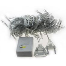 Free Shipping Fairy Waterproof LED String Light 110V/220V AC 10M 100LEDs LED Christmas tree Light with connecting plug