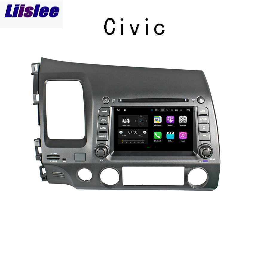 Liislee Android Für <font><b>Honda</b></font> <font><b>Civic</b></font> 2006 ~ 2011 Auto Navigation GPS Multimedia Audio Video <font><b>Stereo</b></font> Player. image
