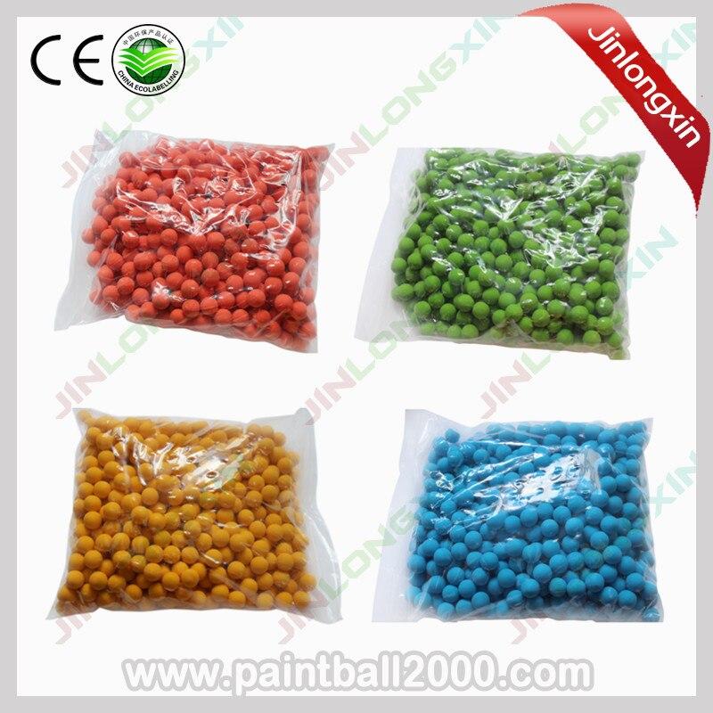 SPUNKY 500 pcs bag 0 68 Cal Rubber Ball for Paintball Training Reball
