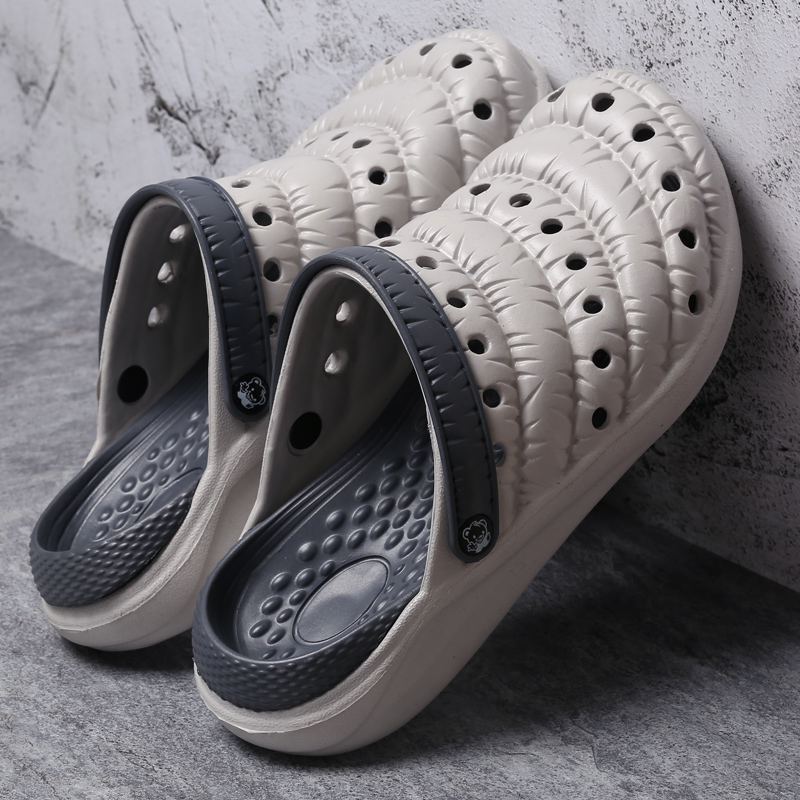 Plus Size Men 39 s Summer Shoes Sandals Breathable Men Slippers Mesh Lighted Casual Shoes Outdoor Slip On Shoes Beach Flip Flops in Men 39 s Sandals from Shoes