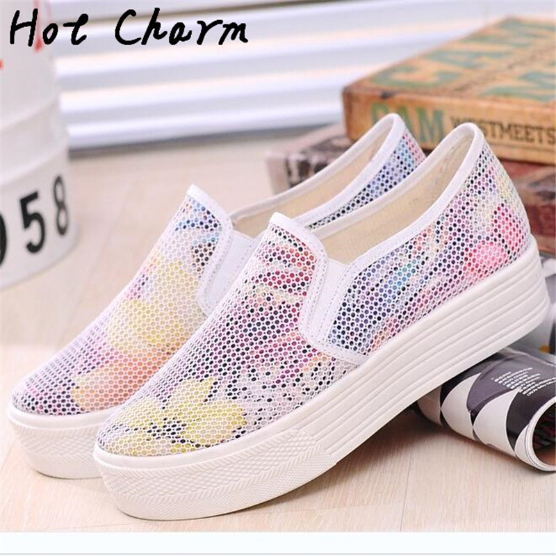 e16135c0 Cheap Price 2016 New Fashion Women casual shoes Walking Ladies flats Shoes  Female breathable Zapatillas mesh Shoes-in Women's Flats from Shoes on ...